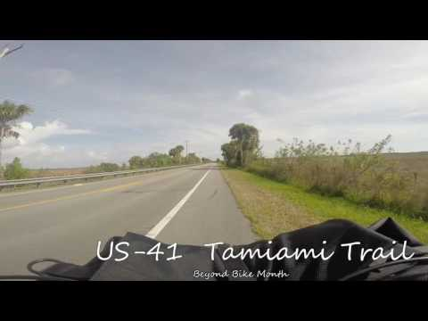 US-41 / Tamiami Trail in Collier County, FL.  Riding my bicycle along on my way to camp