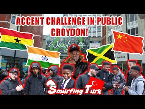 Accent Challenge In Public - Croydon