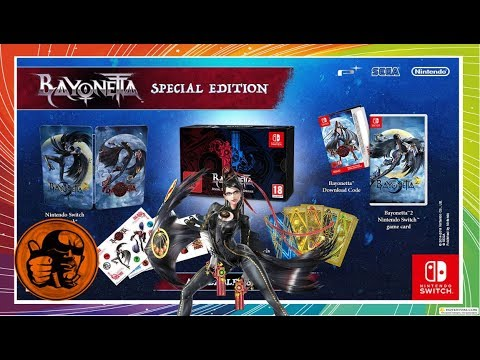 Bayonetta: SPECIAL EDITION UNBOXING, REVIEW & Wii U COMPARISON! Switch Anniversary Special (Quad HD)