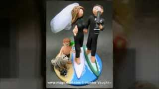 Surfers Wedding Cake Toppers