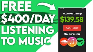 Earn $400 A Day Listening To Music For FREE! (PayPal)