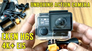 Eken h6s 4k eis action camera unboxing | the budget gopro for volg
