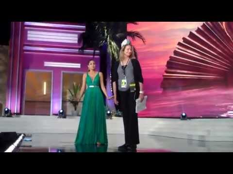 Gabriela Isler Miss Universe 2013 Practices Crowning Her Successor