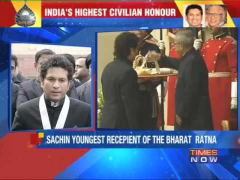Sachin Tendulkar conferred with Bharat Ratna