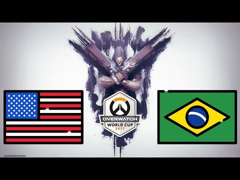 USA vs Brazil (Part 1) | Overwatch World Cup 2017 - Santa Monica
