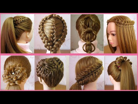 8 Beautiful Cute Hairstyles For Girls | Trendy Hairstyles | Hair Style Girl | Tuto Coiffures Faciles