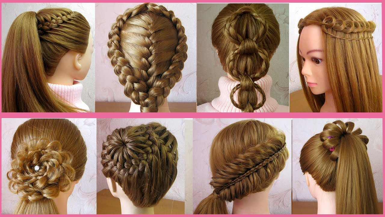 8 Beautiful Cute Hairstyles For Girls Trendy Hairstyles Hair Style Girl Tuto Coiffures Faciles Youtube