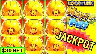 High Limit Huff N' Puff Slot Machine HANDPAY JACKPOT ! $5,000 Live Slot Play PART-2