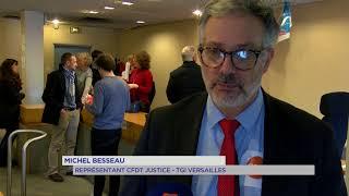 Justice : mobilisation au tribunal de grande instance de Versailles