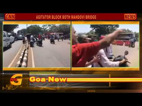 GOA NEWS : MINING DEPENDENT AGITATION, BLOCK NH 17, TRAFFIC PARALISE, POLICE RESORT LATHICHARGE