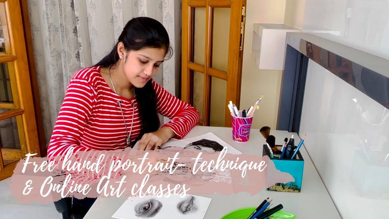 Free hand  Portrait Technique || Pencil Art Tutorial