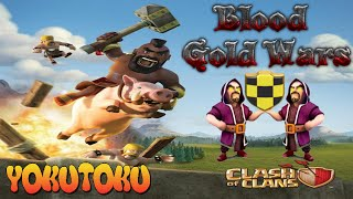 CLASH OF CLANS ATTACCO WAR TH9 MISTO GOWIPE E DOMATORI DOTT BEAR BLOOD GOLD WARS