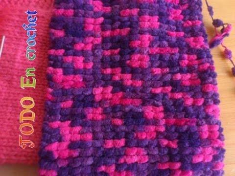 Como hacer bufanda de motitas pompones de doble vista - Como hacer una bufanda de lana gorda ...