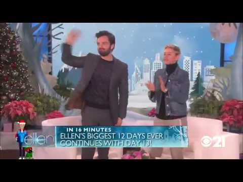 Sebastian Stan on Ellen full