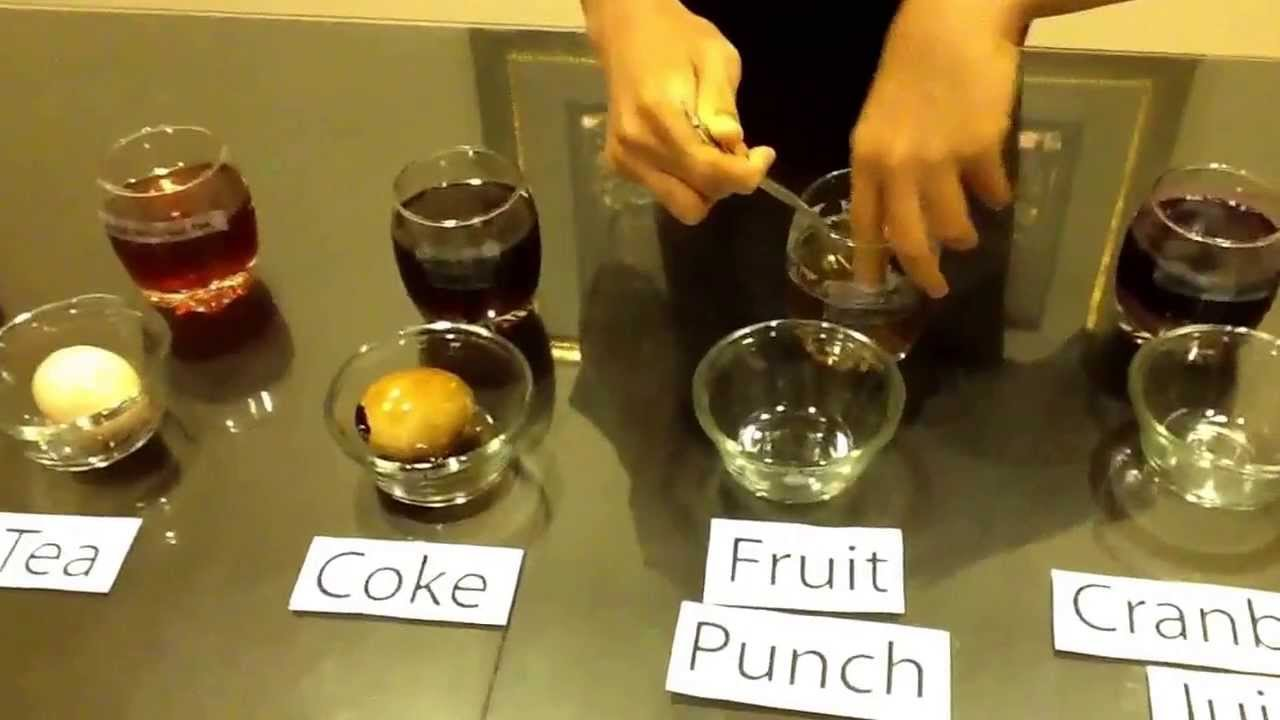 Beverages Stain Teeth The Most Science Project Youtube