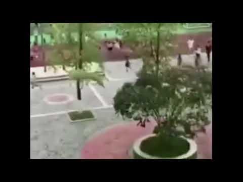 Sichuan, Qingchuan, China M5.4 earthquake September 30, 2017 - School evacuation