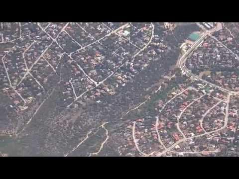 Madrid-to-Miami flight: Cercania train to airport T4, takeoff, Portugal coast, landing 2014-05-16