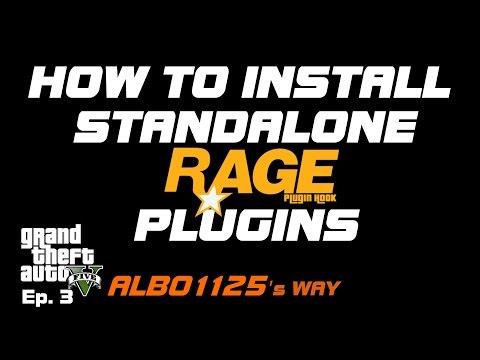 HOW TO INSTALL STANDALONE RAGEPluginHook PLUGINS | Police Mod Tutorial PC  |Modding GTA5 Albo's Way 3