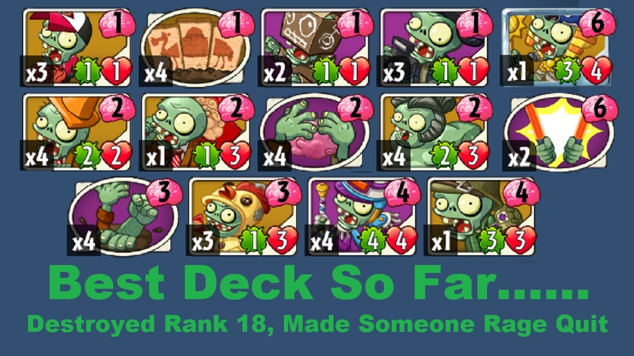 Destroying people with awesome zombie deck ranked up for Zombie balcony