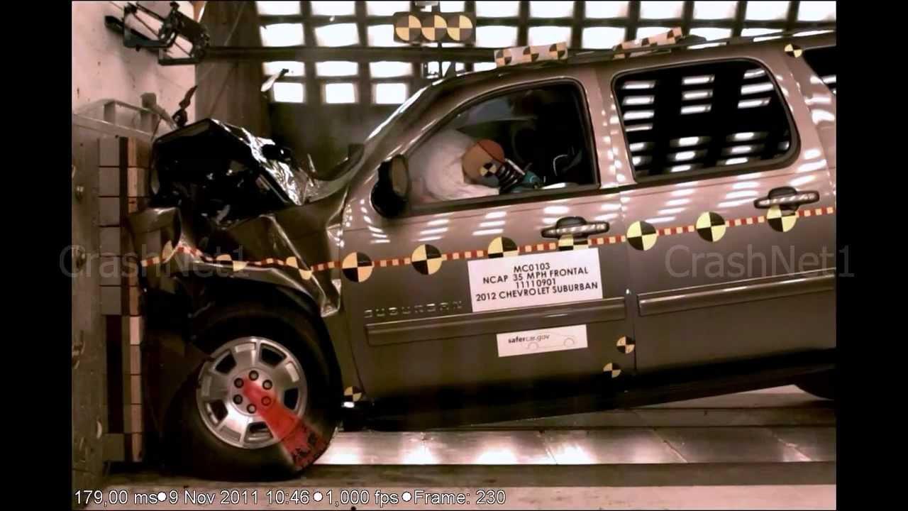 Chevrolet Suburban | Frontal Crash Test | High Speed ...