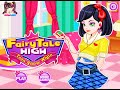 Fairy Tale High Teen Snow White- Fun Online Fashion Dress Up Games for Girls Kids