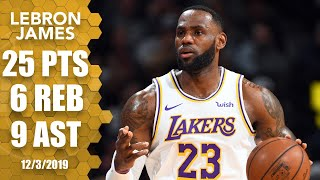 LeBron scores 25 points, drops 9 assists for Lakers vs. Nuggets   2019-20 NBA Highlights