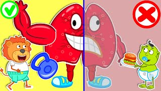 Lion Family 💔 Rescues Talking Broken Heart by Healthy Habits for Kids   Cartoon for Kids