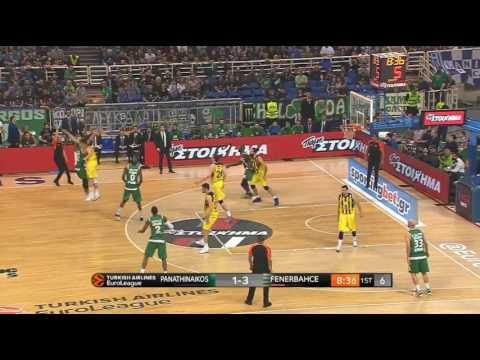 Bogdan Bogdanovic blocks 3 times in 3.5 Panathinaikos-Fenerbahce