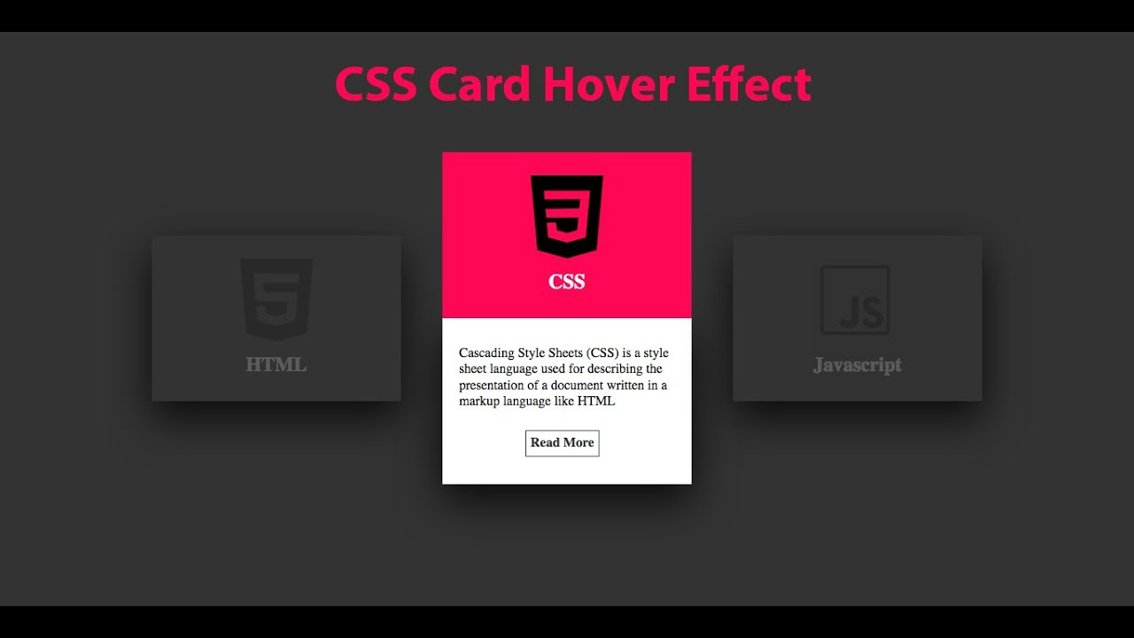 css card hover effects  html  css  youtube
