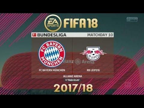 Fifa 18 Bavaria Munich Vs Rb Leipzig | Bundesliga 2017/18 | Ps4 Full Match