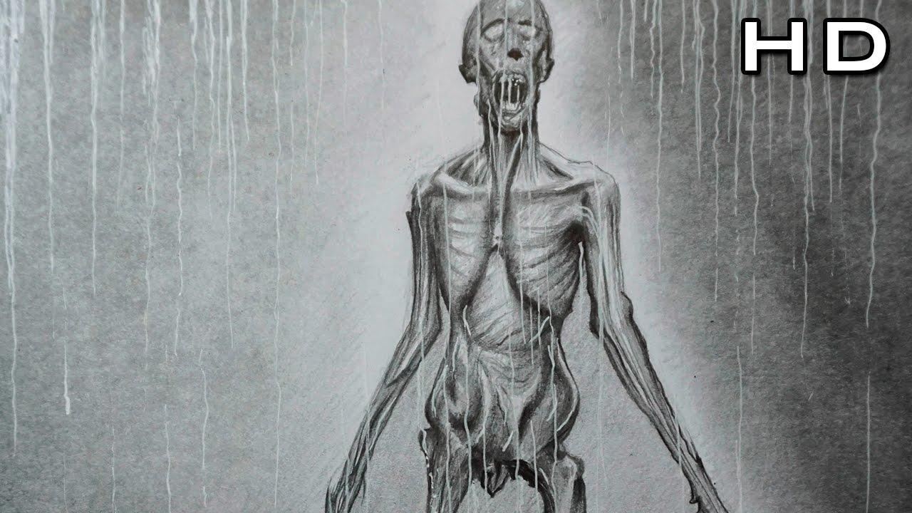 Cómo Dibujar Un Monstruo Realista A Lápiz Paso A Paso Necromorph