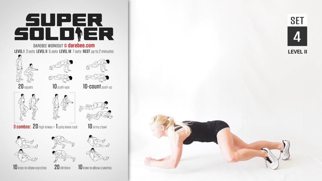 Super Soldier Workout By Darebee Full Strength