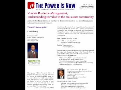 The Power Is Now Vendor Resource Management part 3