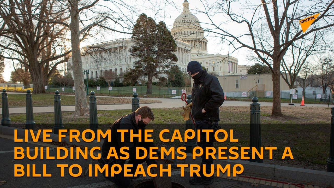Situation Outside Capitol Building as Democrats Present Bill to Impeach President Trump