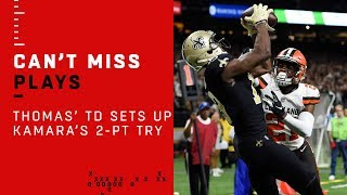 Michael Thomas' TD Catch Sets Up Alvin Kamara's 2-Pt Conversion!