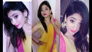 Indian makeup look || easy wedding , sangeet , mhendi look || shy styles