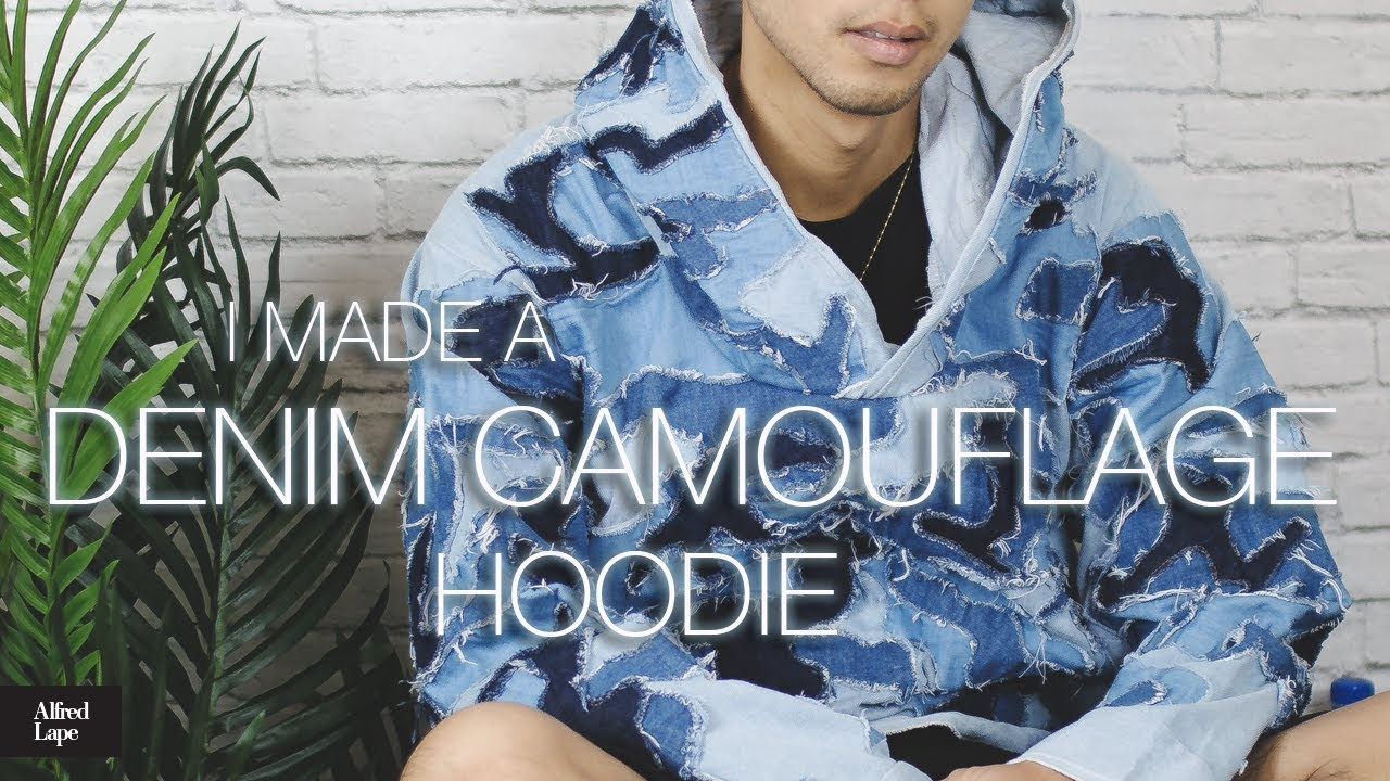 648953664 I Made A Hoodie From Scratch - DIY Denim Camouflage - YouTube