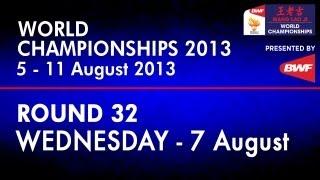 R32 - MS - Lin Dan vs Eric Pang - 2013 BWF World Championships