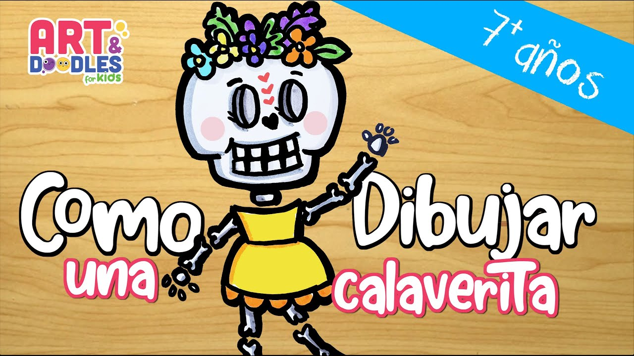 How to Draw a CALAVERITA for day of the dead, Mexican celebration