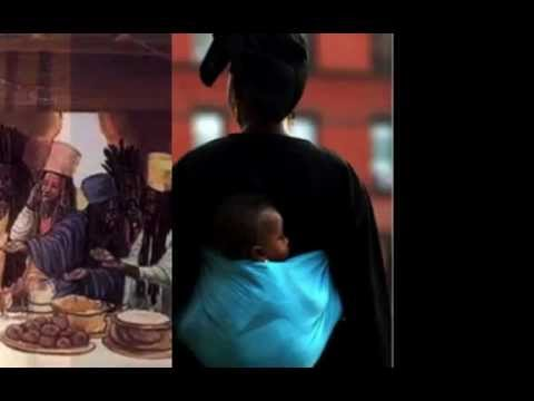 black woman and child.