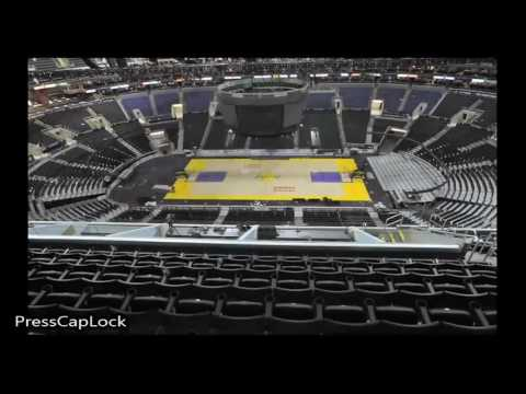 NBA Court Transformation STAPLES CENTER ( Lakers to Clippers to Sacramento Kings)