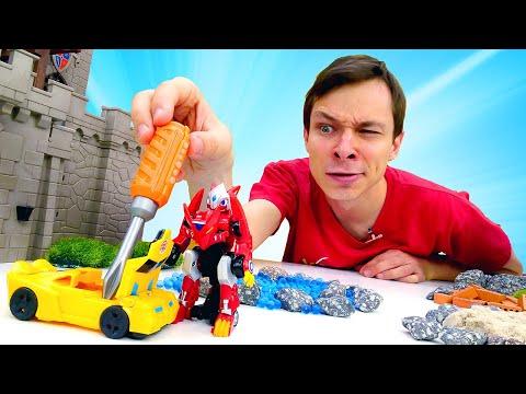 Трансформеры и Монкарты в Автомастерской - Ремонт и прокачка машинок! – Видео игры для мальчиков.