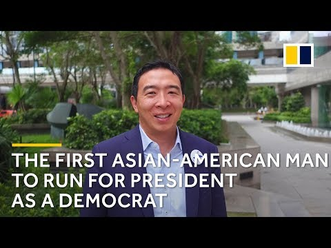 Democrat Andrew Yang throws hat in ring for US presidential race