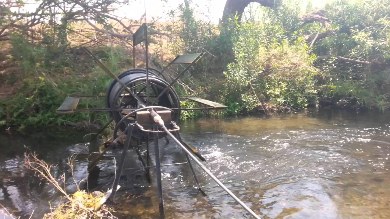Coalcom n elevar subir agua r o manguera girar youtube for Manguera de agua