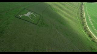 Pewsey White Horse 4K by Drone