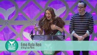 Emo Kylo Ren accepts the Shorty Award for Best Parody Account