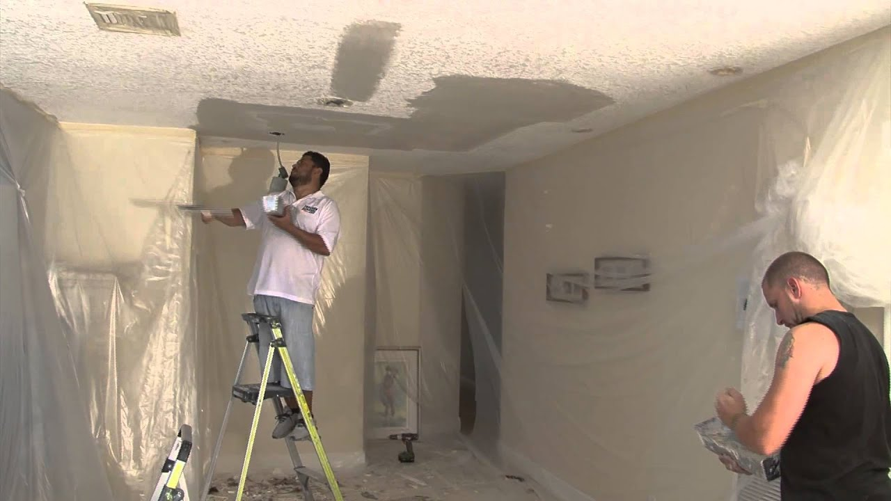 Blue Sky Popcorn Ceiling Removal Knockdown Texture