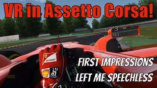 Assetto Corsa - My First Impressions of VR