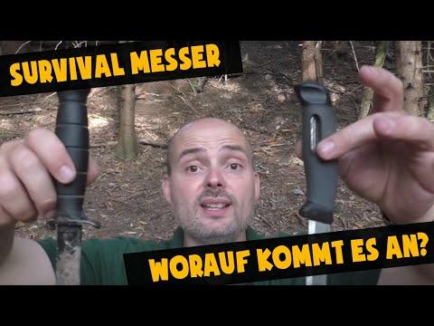 Survivalmesser Auswahl - Worauf kommt es an?