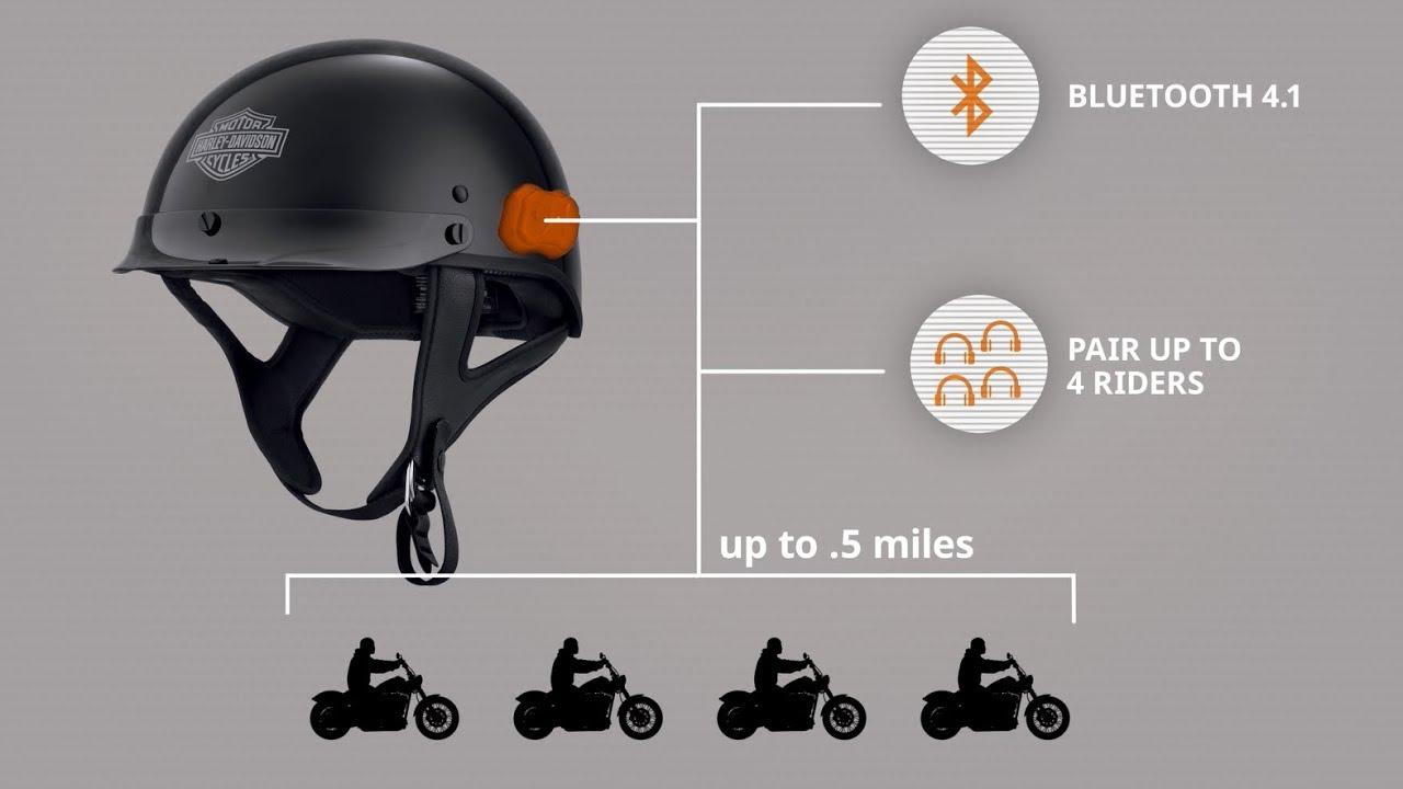 013113bb40d Boom!™ Audio N01 Half Helmet | Harley-Davidson - YouTube